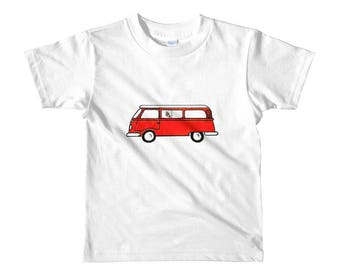 Volkswagen Bus Hippie Kids tee Shirt
