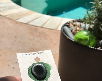 Dot Card Handmade Watercolor Paint Tody Dark Green