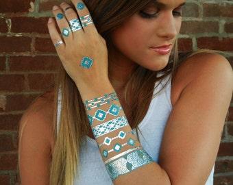 Metallic Tattoos, Metallic Tattoo, Silver Tattoo Style Temporary Metallic Tattoos, Temporary Tattoos Silver Temporary Tattoo, Metallic Tatts