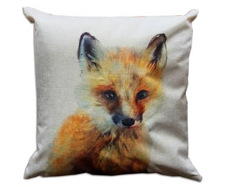 Canvas pillow. Decorative pillow. Printent pillow. cushion. Printed pillow cover. Accent throw pillow. Animal pillow covers. Fox pillow
