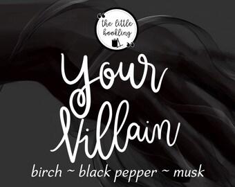 8.5 oz Your Villain Candle / The Darkling / Darkling Candle Bookish / Grisha / Grishaverse / Leigh Bardugo /