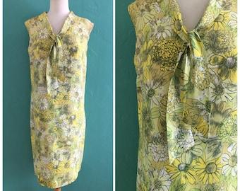 vintage 60's spring floral shift dress