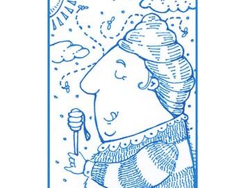 Whimsical Beekeeper ACEO Print!