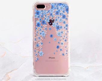 iPhone 8 Case iPhone X Case iPhone 7 Case Floral Clear GRIP Rubber Case iPhone 7 Plus Clear Case iPhone SE Case Samsung S8 Plus Case U29