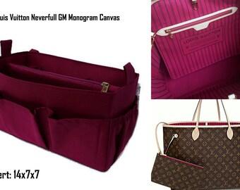 Louis Vuitton Neverfull GM purse insert - Extra large Bag organizer in Burgundy