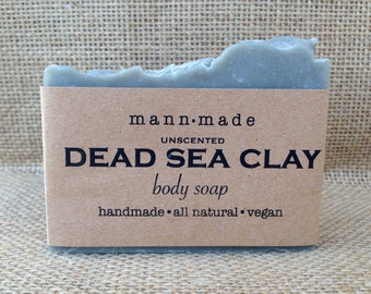 Dead Sea Clay Soap, Unscented, Vegan, All Natural