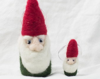 Needle Felted Gnome Wool Ornament