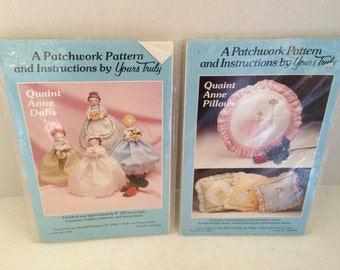 A Pair of Vintage Quaint Anne Patterns by Yours Truly