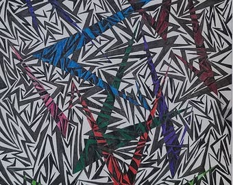 Original Abstract Art, Original Abstract Drawing, Modern Art, Modern Drawing