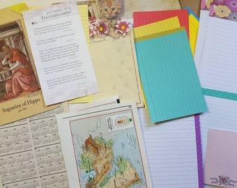 Huge Junk Journal Kit, lots of Vintage papers, ephemera, etc. Over 270 pieces