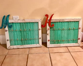 Customizable repurposed cabinet door photo frame