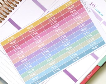 Pastel Rainbow To Do Label Planner Stickers for use with Erin Condren LifePlanner™