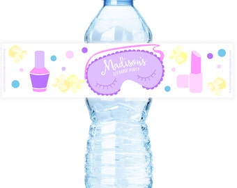 Slumber #Party Water #Bottle #Labels