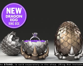 Dragon Egg Game of Thrones Ring Box - proposal ring box, engagement ring box, ring case, wedding, marriage, matrimony, bridal, geeky, geek