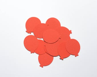 25 fire berry balloon card stock punches/confetti embellishments for craft or party decor
