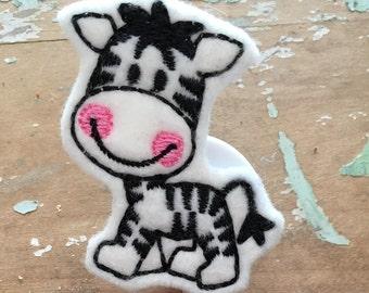 Zebra ID badge reel holder retractable clip