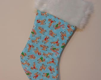Rudolph the Red Nosed Reindeer Stocking - North Pole Rudolph