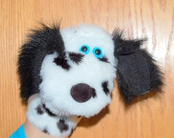 Fuzzy Dalmatian Hand Puppet with moveable mouth