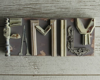 assemblage - wall art - Family