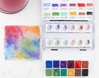 MEADOW JEWELS- Artisan Handmade Watercolor paint Set       Handmade Watercolours       watercolor paint set