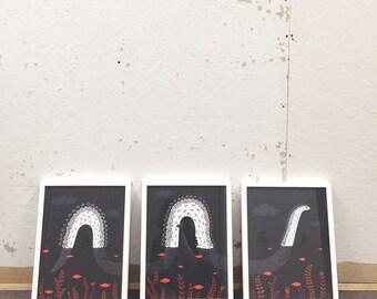Lochness Wall Art Triptych