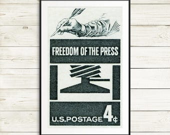 journalism gifts, journalist, freedom of the press poster, best selling items, womens march, literary gifts, bookish, english teacher gifts