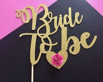Bride to be cake topper.