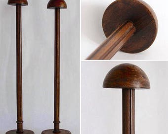 Fabulous French Antique Hat Display Stand Milliner Wooden Hat Holder, Very Large