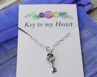 Key to my Heart Charm Necklace