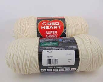 Aran -  Red Heart Super Saver yarn worsted weight 100% acrylic - 1033