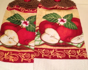 Apple  Print Towel set of 2