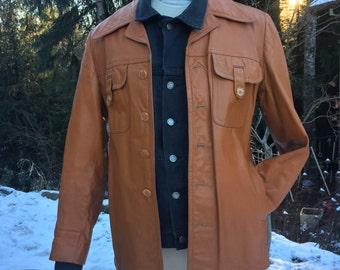 Vintage leather jacket blazer by Startown, 46L