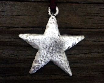 Christmas Star Christmas Ornament Star Decoration by Treasure Cast Pewter