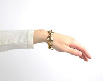 VINTAGE Bracelet 1980s Chain Link Bracelet Metal