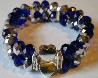 Religious Christian Jewelry Cross Heart Bracelet Religious Jewelry Christian Bling  BR36