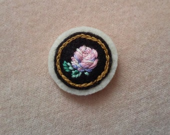 Misty Morning Rose (Patch, Pin, Brooch, or Magnet)
