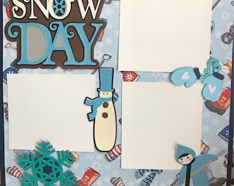 Snow Day 12x12 Scrapbook Page