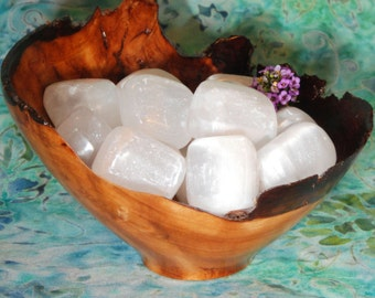 1 SELENITE Tumbled Stone - Selenite Crystal, Selenite Stone, Tumbled Selenite, Selenite Gemstone, Selenite Tumblestone, Selenite Healing
