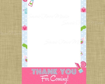 Spa Party Thank You Card - Sleepover Makeover Spa Day Thank You Cards - Slumber Party - Spa Birthday Party - Girl Birthday Invitation - Diva