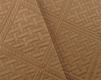 Rust Brown Lattice Cloque Home Decorating Fabric, Fabric By The Yard