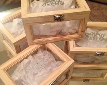 Monogram Jewelry Box, Bridesmaid Jewelry Box, Wedding Jewelry Box, Personalized Jewelry Box