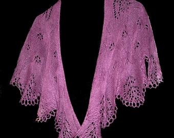 Forte' Lace Knit Shawl Pattern
