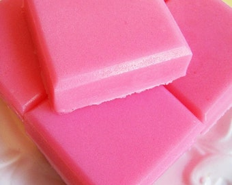Solid Sugar Scrub Soap Cherry Bar - Soap Scrub, Sweet Soap, Fruit Soap, Soap Favors, Bridesmaid Gift, Hostess Gift, LoveLeeSoaps, Glycerin