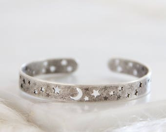 Moon and Stars, Crescent Bracelet