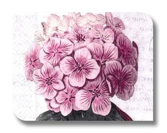 Hydrangea paper napkin for decoupage x 1 Pale Magenta. No 1280