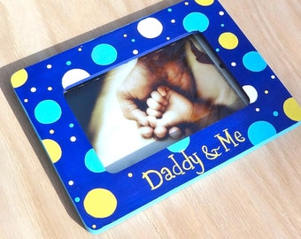 Father's Day Daddy and Me Keepsake Picture Frame Baby Nursery Room Decor Grandparent, Gift