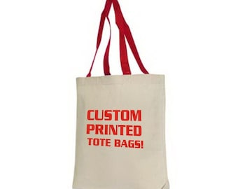 20 Custom Printed Tote Bags