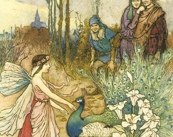 Book Of Fairy Poetry V By Warwick Goble 1920 Wall Fine Art Repro Print Poster A3 A4