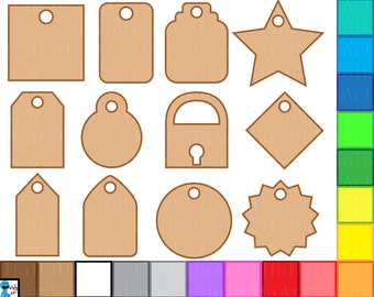 Tags - Digital Clipart, Clip Art Graphics, Personal Use, Commercial Use, Instant download - 216 images (00250)