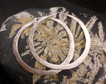 Extra Large Hammered Hoops